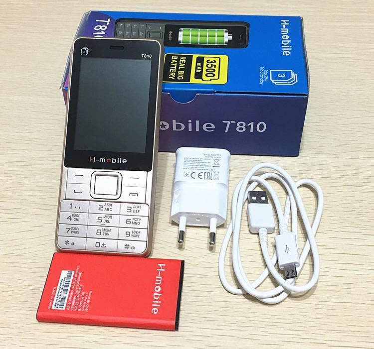 6a48d38d7920 H-Mobile T810 3 sim батарея 3000mAh - кнопочный телефон бюджетный китайский  телефон недорого дешево