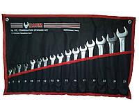 Набор ключей рожково-накидных на полотне 18 пр. (8-32 мм)