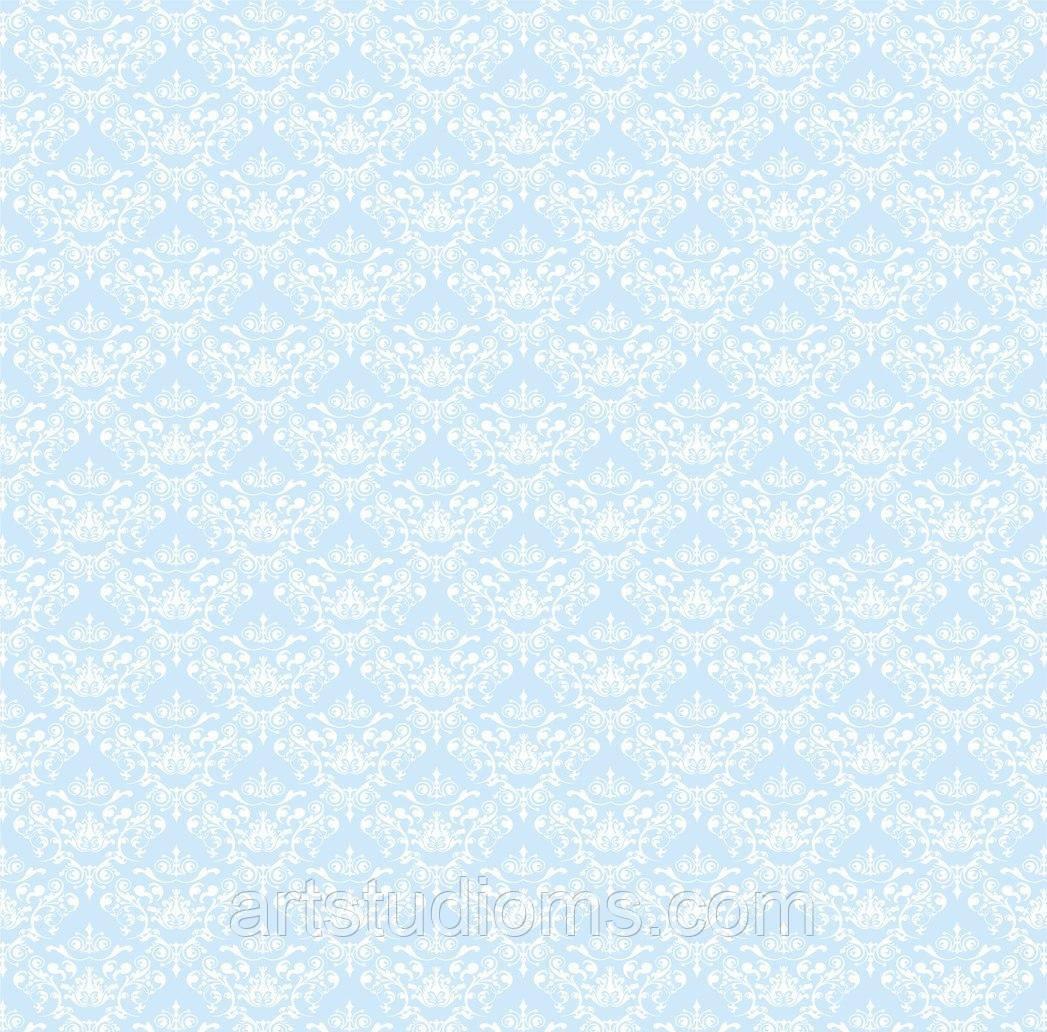"""Дизайнерский картон """"голубой  элегантный"""" 30х30см Коллекция базовая ЕК"""