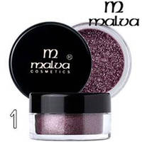 Malva - Пигменты M-491 тени для век Dramatic Chrome Eyeshadow Тон 01 dusty violet перламутр
