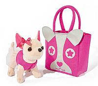 Игрушечная собачка Кикки в сумочке, аналог chi chi love. Интерактивные игрушки, игрушки для юных модниц