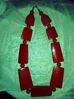 Красное ожерелье бусы красивые и необычные фирменные