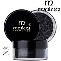 Malva - Пигменты M-491 тени для век Dramatic Chrome Eyeshadow Тон 02 shimmer black шиммер