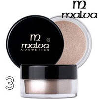 Malva - Пигменты M-491 тени для век Dramatic Chrome Eyeshadow Тон 03 creamy shimmer перламутр
