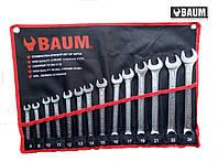 Набор ключей рожково-накидных на полотне 14 пр. 8-24 мм (Baum 30-14MR)
