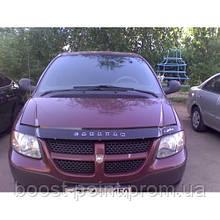 Дефлектор капота (мухобойка) Dodge Caravan (додж караван 1995+)