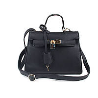 Женская сумочка черная с замочком