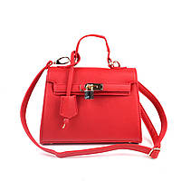 Женская сумка красная с замочком