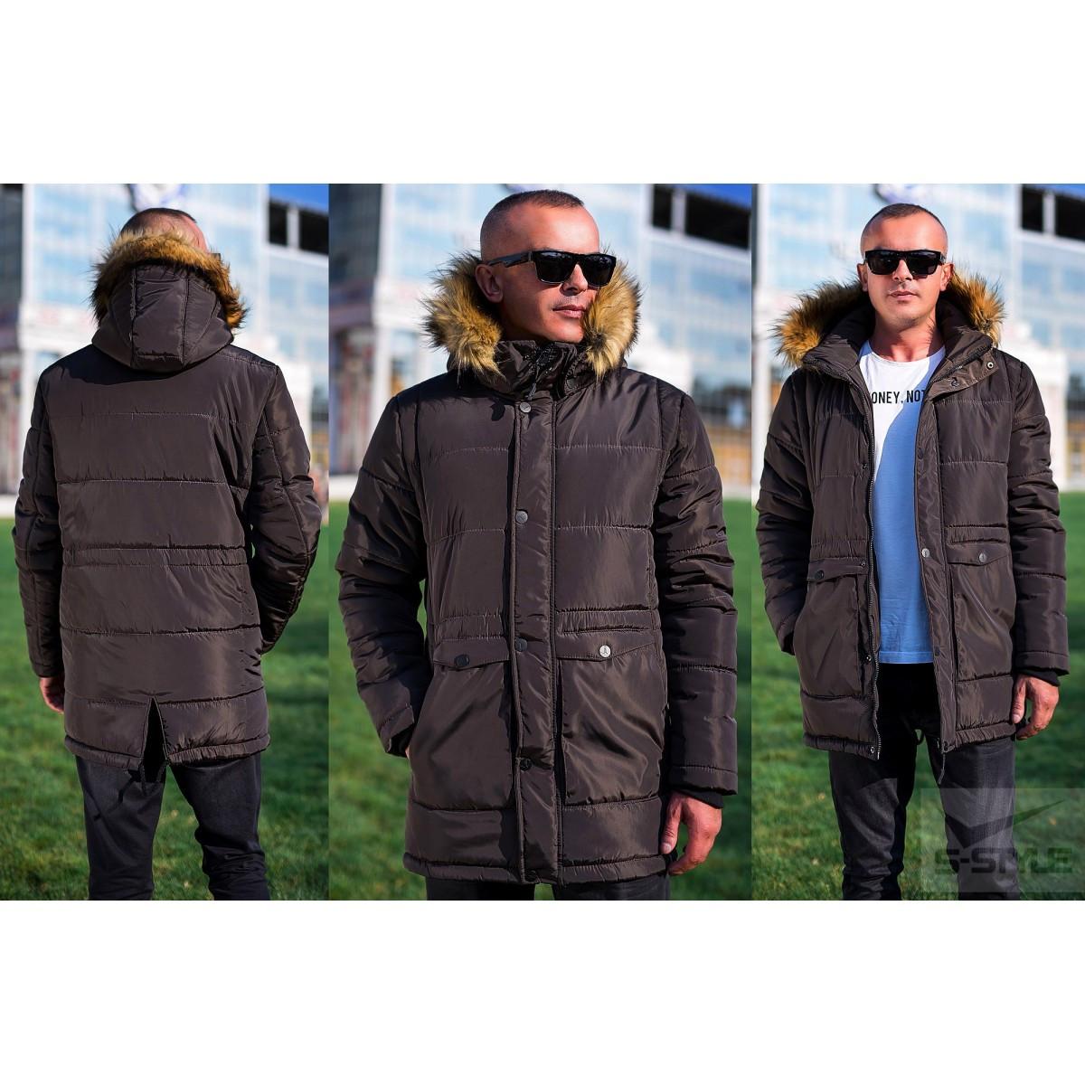 15c07d635a1b6 Зимняя Мужская Куртка Коричневый M, Коричневый — в Категории