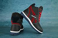 Детские зимние кроссовки нат.кожа Reebook Синий\Красный Размер: 30,31,32,33,34,35