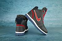 Детские зимние кроссовки нат.кожа Nike Синий\Красный Размер: 30,31,32,33,34,35