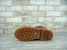 Зимние ботинки Timberland Brown, женские ботинки с натуральным мехом. ТОП Реплика ААА класса., фото 3