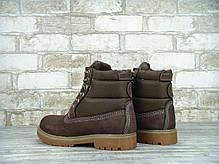 Зимние ботинки Timberland Brown, женские ботинки с натуральным мехом. ТОП Реплика ААА класса., фото 2