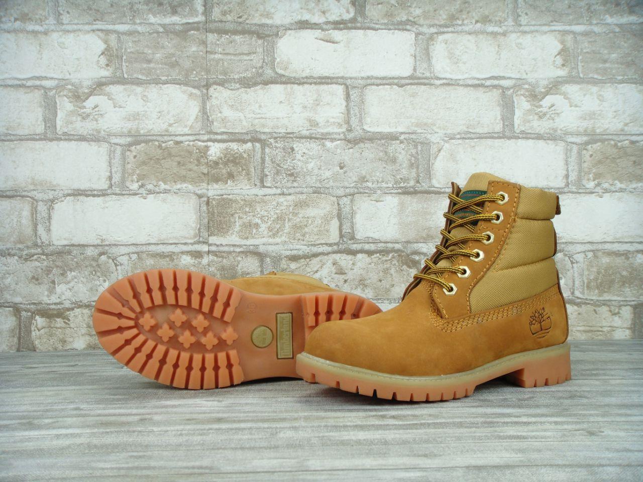 Копия Зимние ботинки Timberland, женские ботинки с натуральным мехом. ТОП Реплика ААА класса.