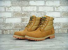 Копия Зимние ботинки Timberland, женские ботинки с натуральным мехом. ТОП Реплика ААА класса., фото 2