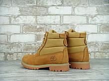 Копия Зимние ботинки Timberland, женские ботинки с натуральным мехом. ТОП Реплика ААА класса., фото 3