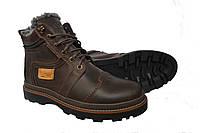 Кожаные мужские зимние ботинки Riccone Brown, фото 1