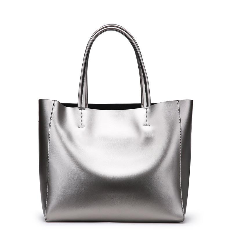 194662e269f7 Женская сумка кожаная цвет метал серебро купить по выгодной цене в ...