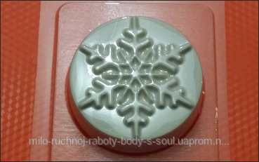 Пластиковая форма для мыла  снежная шайба