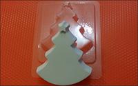 Пластиковая форма для мыла  Ёлка звезда
