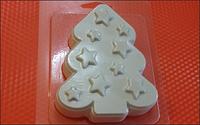 Пластиковая форма для мыла  Звёздная ёлка