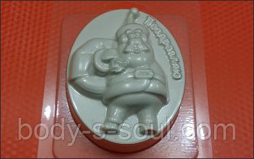 Пластиковая форма для мыла  Санта