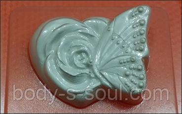 Пластикова форма для мила Метелик на розі