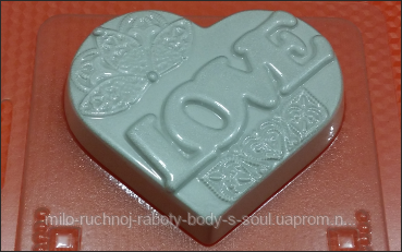 Пластиковая форма для мыла  Сердце ажур  237