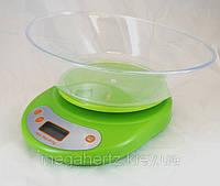 Кухонные электронные весы от 1г до 5 кг Green EK01