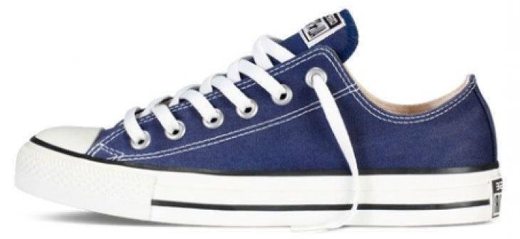 Мужские кеды Converse All Star Low blue, конверс . ТОП Реплика ААА класса., фото 2