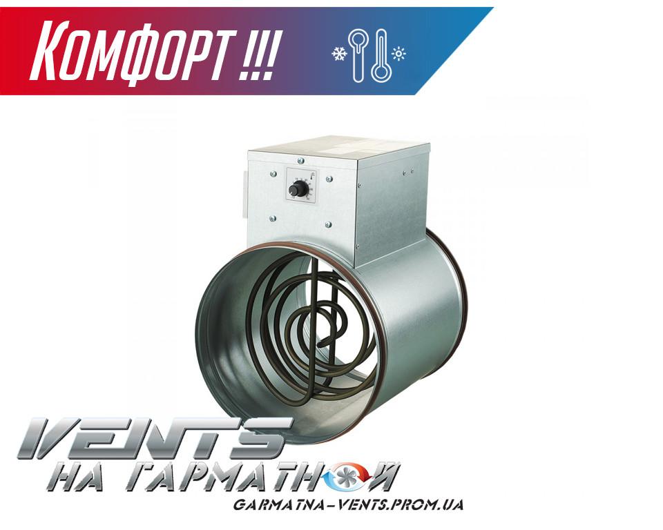 Вентс НК 250-3,6-3 У. Канальный нагреватель с блоком управления