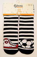 Махровые носки в полоску с тормозами детские