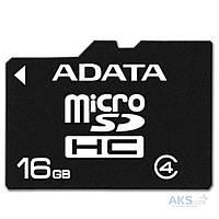 Карта памяти ADATA 16GB microSDHC Class 4 (AUSDH16GCL4-RA1)