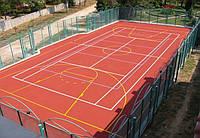 Теннисные корты. Синтетическое универсальное рулонное спортивное покрытие