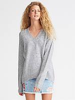 Пуловер Oversize в светло-сером цвете