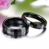 """Парные кольца из черной керамики """"Бомонд"""", фото 1"""