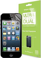 Защитная пленка SGP Ultra OPTICS Dual для iPhone 5 (фронт+бэк)