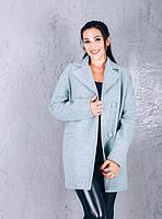 TM Ozze Женское весеннее пальто из шерсти Д 112 цвет мята темная