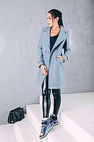 TM Ozze Пальто женское весеннее классика  из шерсти Д 249 цвет мята темная