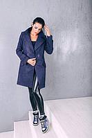 TM Ozze Пальто женское весеннее классика  из шерсти Д 249 цвет синий