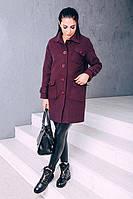 TM Ozze Женское весеннее пальто из кашемира Д 252 цвет марсала