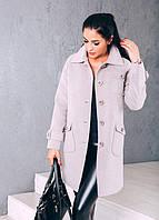 TM Ozze Женское весеннее пальто из кашемира Д 252 цвет бежевый