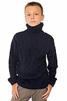 """Шерстяной свитер """"Стюарт"""", цвет темно - синий,"""