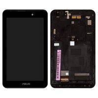 Дисплей для планшетов Asus FonePad 7 FE170CG, MeMO Pad 7 ME170, MeMO Pad 7 ME170c, черный, с сенсорным экраном, с рамкой