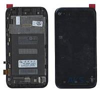 Дисплей (экран) для телефона Lenovo A398T Plus + Touchscreen with frame Original Black