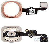 Шлейф для Apple iPhone 6S Plus с кнопкой меню Original Rose Gold