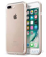 Чехол Laut EXO-FRAME Aluminium Bampers Apple iPhone 7 Plus, iPhone 8 Plus Gold (LAUT_IP7P_EX_GD)