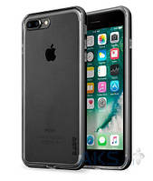 Чехол Laut EXO-FRAME Aluminium Bampers Apple iPhone 7 Plus, iPhone 8 Plus Matte Black (LAUT_IP7P_EX_GM)