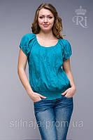 Блуза   большие размеры хлопок яркие цвета резинка