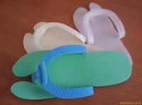 Тапочки одн. вьетнамки для педикюра ( пена 4 мм, белые)